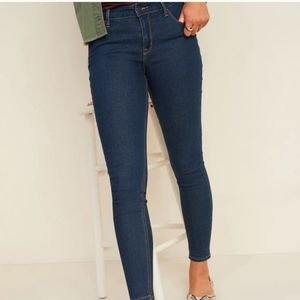 NWT Old Navy dark wash super skinny mid rise jeans